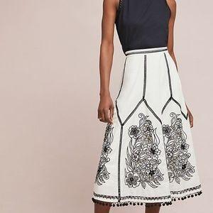 Akemi kin Lazaro Pommed Skirt Anthropologie White